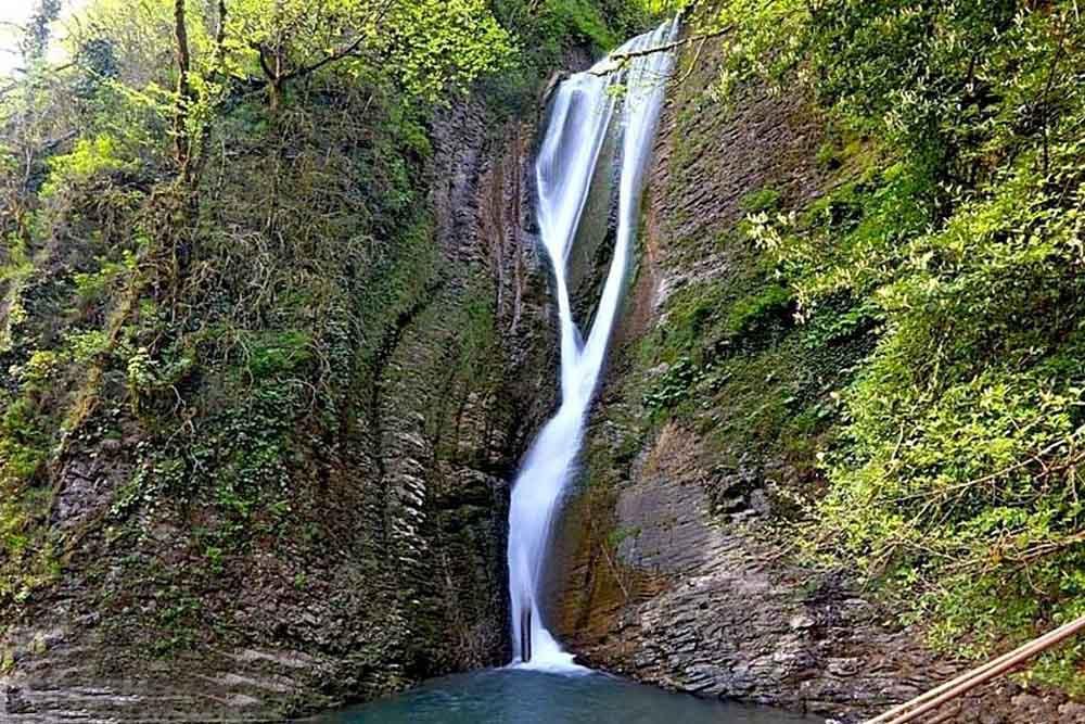 Ореховский водопад в Сочи